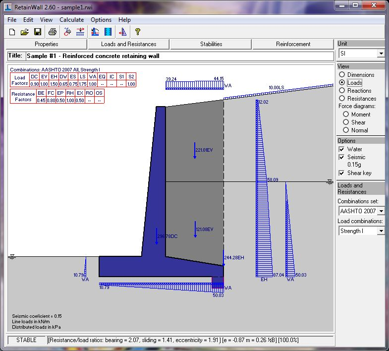 Retainwall - A Retaining Wall Engineering Design Software